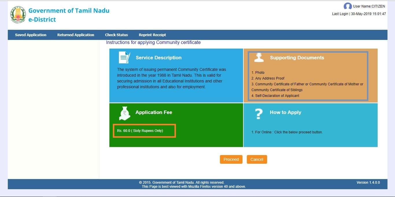 community-certificate-tamilnadu