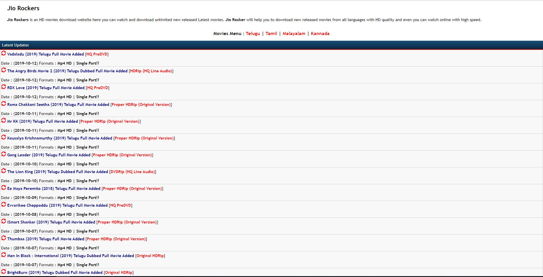 jiorockers homepage
