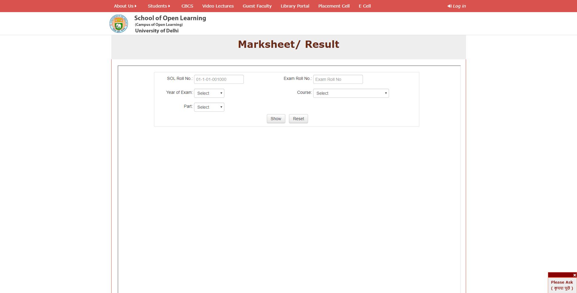 sol du results