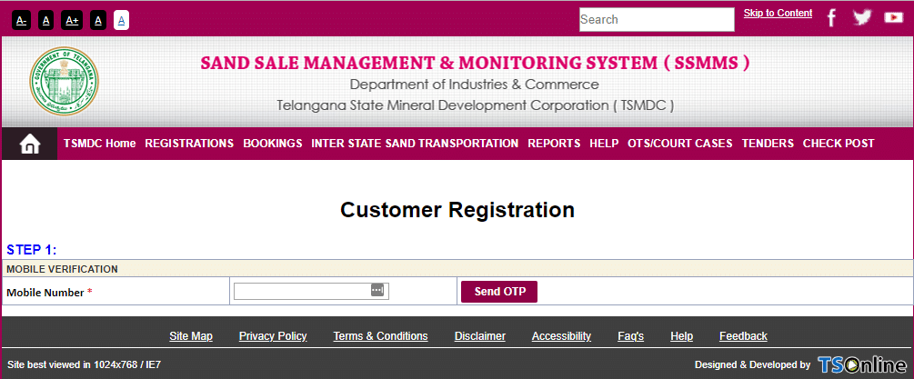 sand online booking