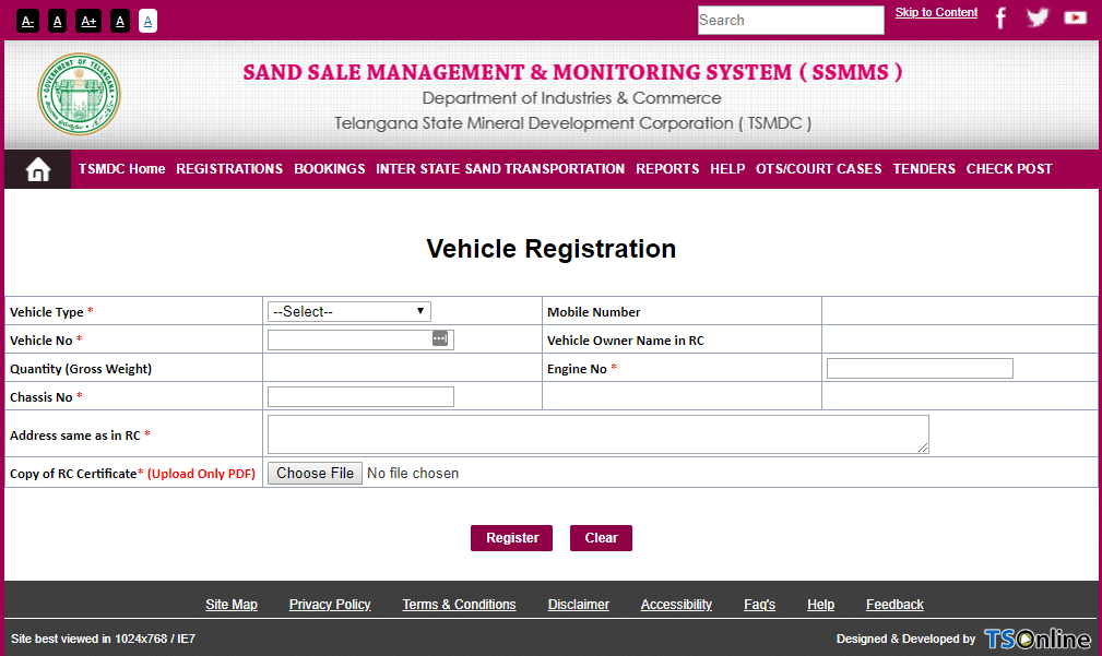 ssmms vehicle registration