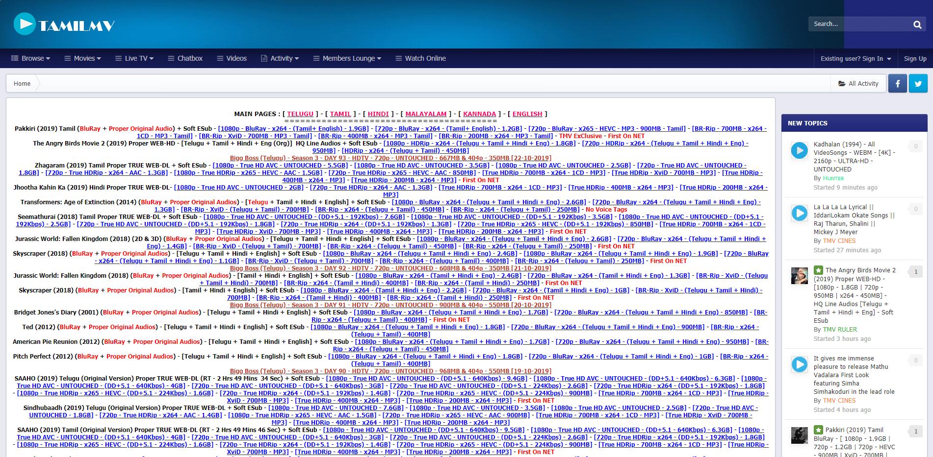 tamilmv homepage