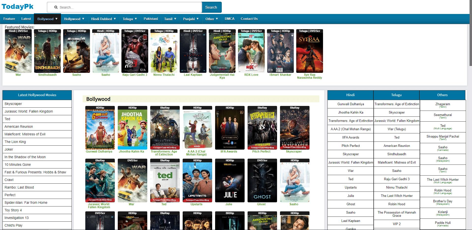 todaypk 2020 telugu movies watch online