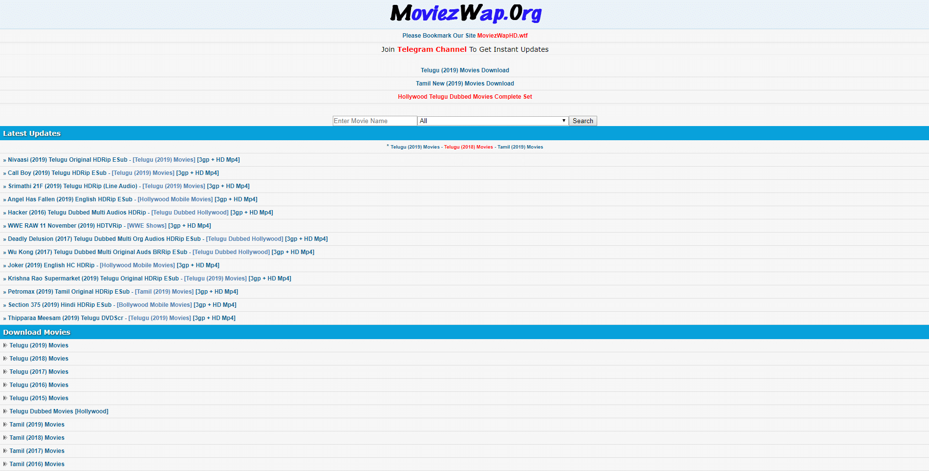 moviezwap homepage