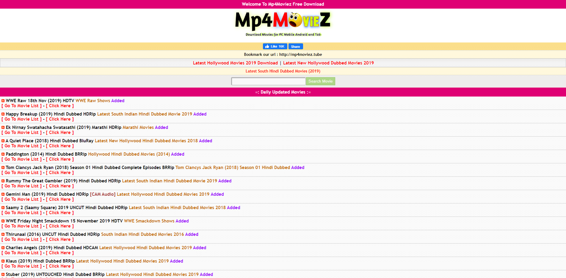 mp4moviez website