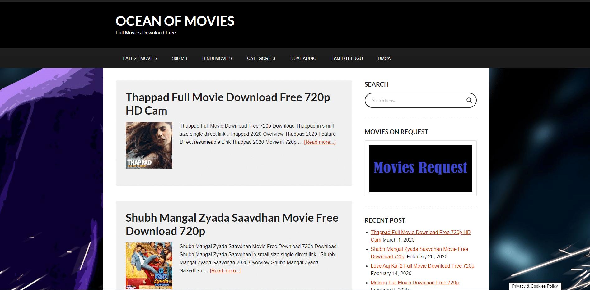 ocean of movies website