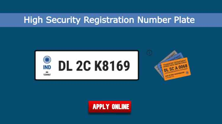 High Security Number Plates Online Registration
