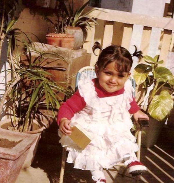 A Childhood Picture of Shriya Saran