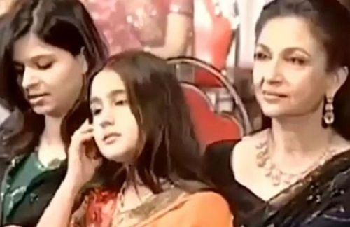 An Old Picture of Sara Ali Khan With Her Grandmother