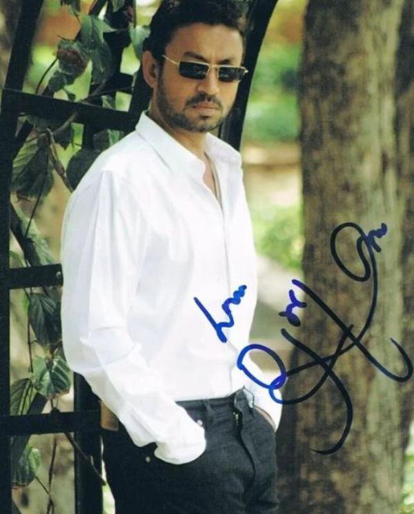 Irrfan Khan's Autograph