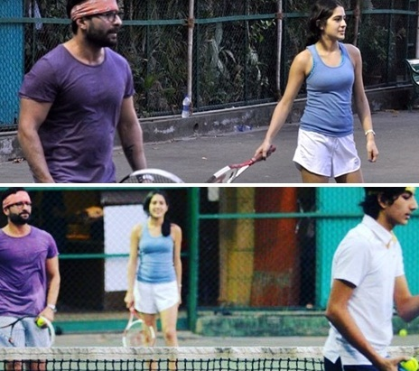 Sara Ali Khan Playing Tennis