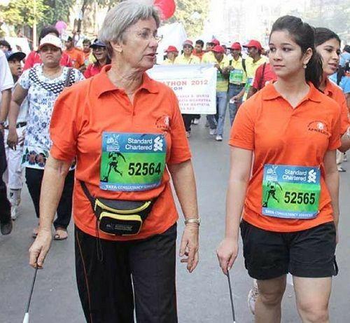 Sara Tendulkar participated in a marathon