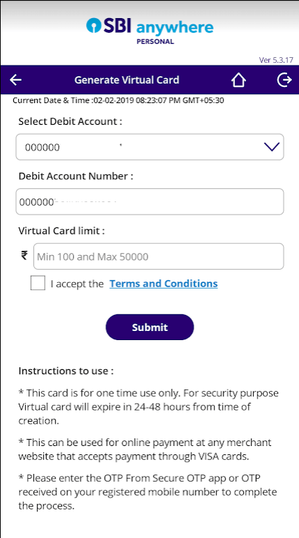 enter virtual card limit