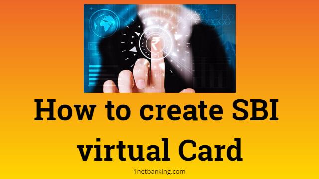 how to create sbi virtual card