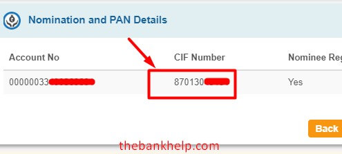 get sbi customer id on net banking